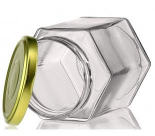 Glas, 6-kantet 370 ml, 66 mm låg 42 stk