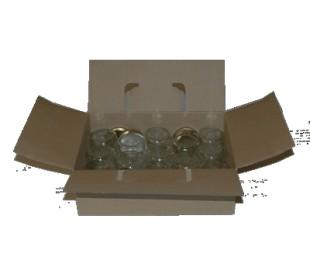 Glas 250 g m. metallåg