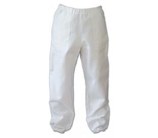Hvide bukser med lomme