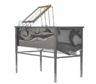 Skrællebord med rustfrit kar