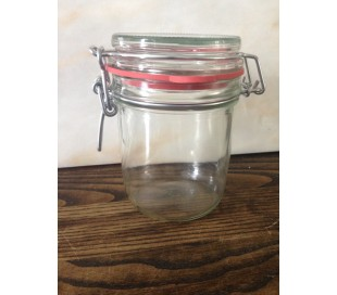 Glas med patentlåg, 450 g - 6 stk.